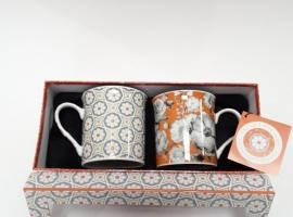 Coffret 2 mugs Orange
