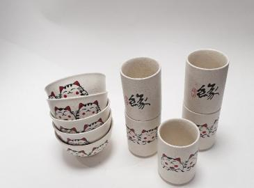 Collection blanc granit chat